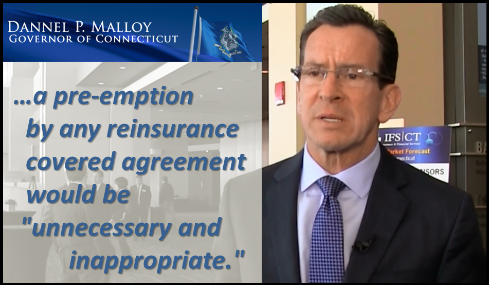 Connecticut Governor concerned about DC negotiating Covered Agreements