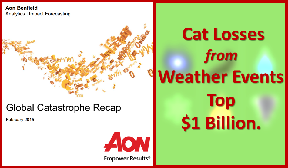 Aon Benfield says winter weather losses could top $1 billion